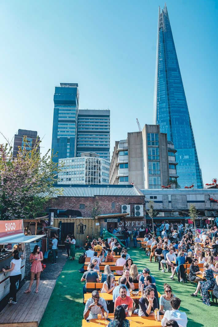 Expect table service and art installations at Vinegar Yard, one of the biggest beer gardens in ...
