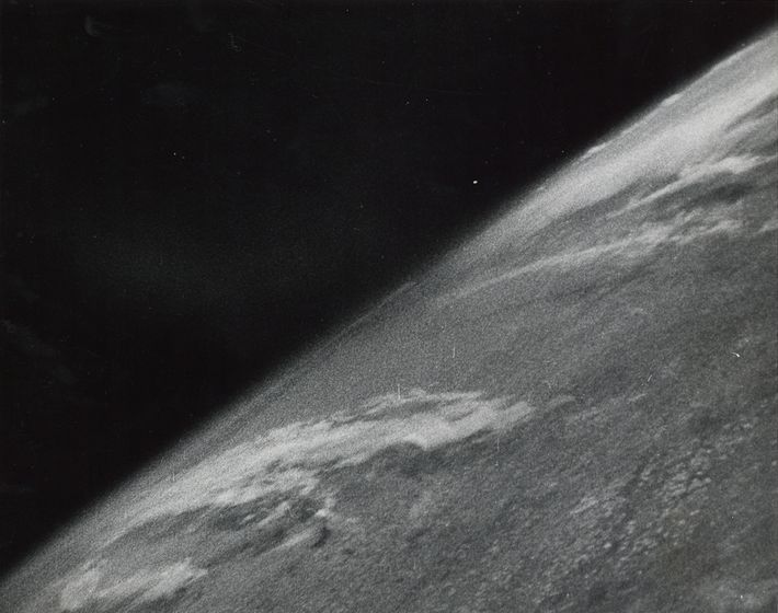 This 1946 image of Earth was the first photograph taken in space.