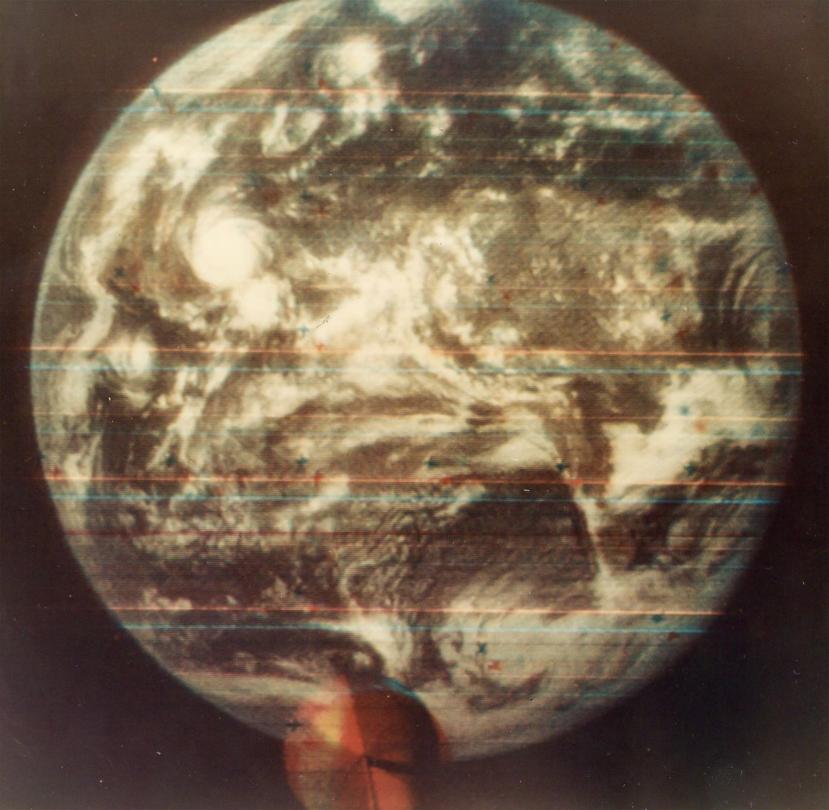 The 1967 image was the first colour photo taken of Earth from space.