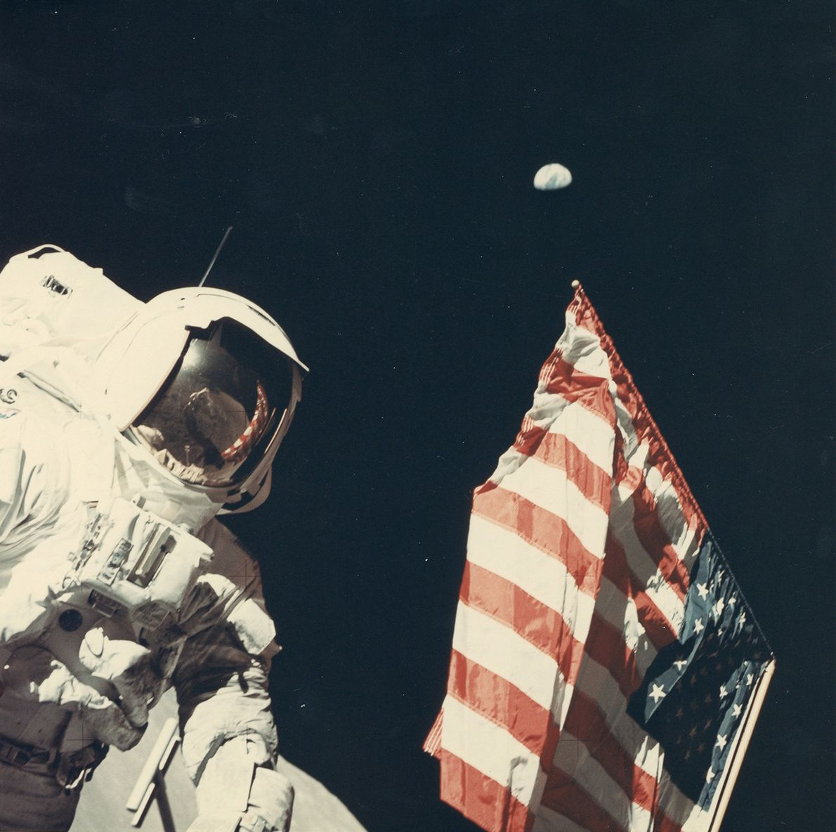 """I captured the Earth, the moon, the man, and the country [the United States] all in ..."