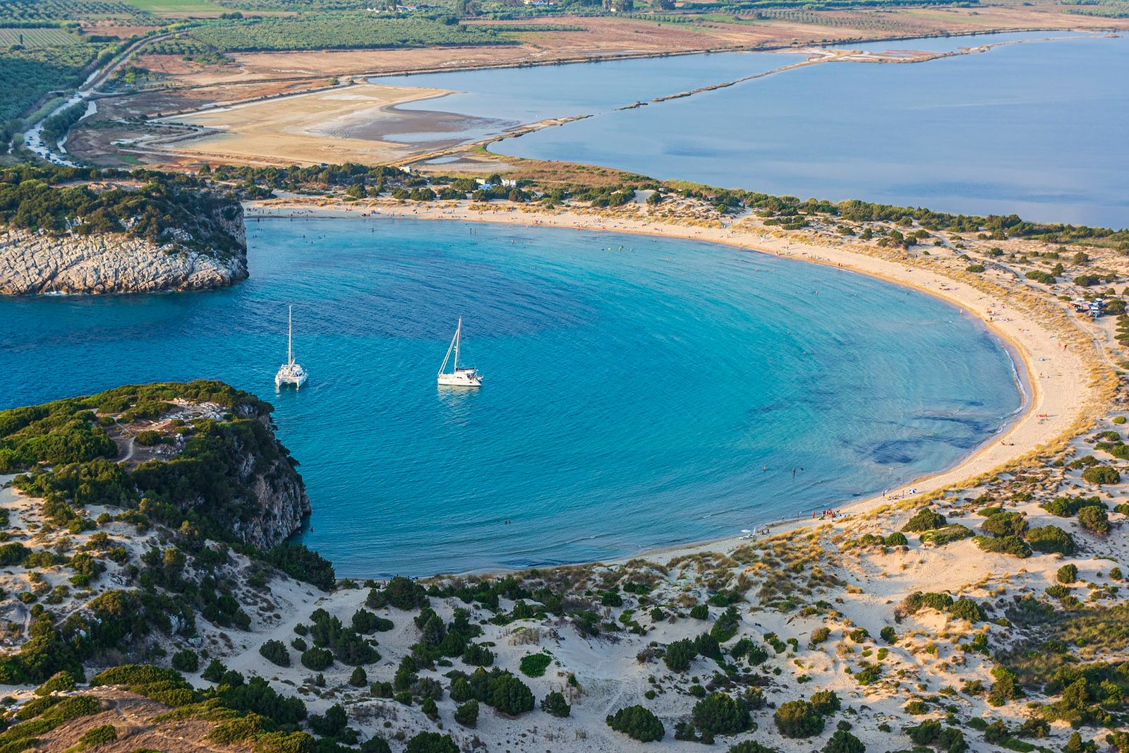 If you only visit one beach, it has to be Voidokoiliain Messinia, a beachwith intense blue ...