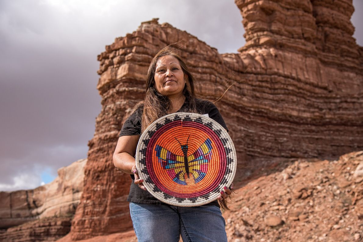 Twin Rocks Trading Post, a shop in Bluff, features ancient art as well as work by ...
