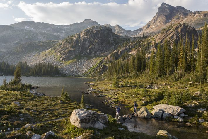 Hikers at Gillim Lakes in Valhalla Provincial Park, a magnificent natural playgroundencompassing 49,893 hectares of raw ...