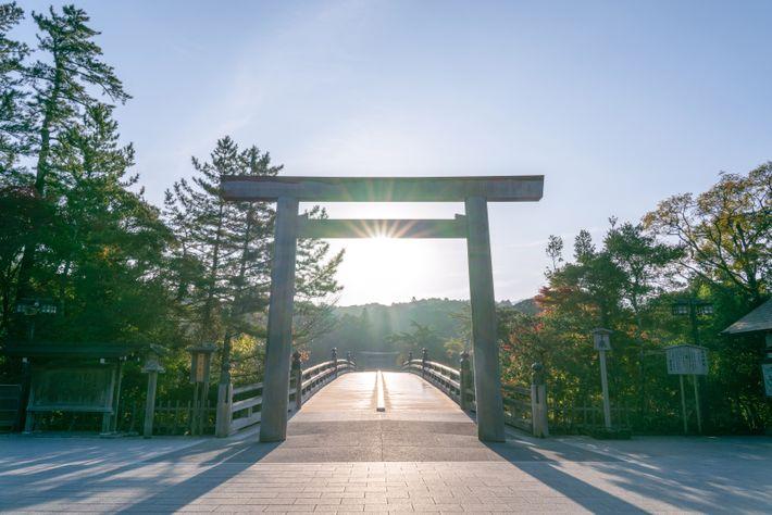 Ise Jungu, Japan's holiest Shinto shrine.