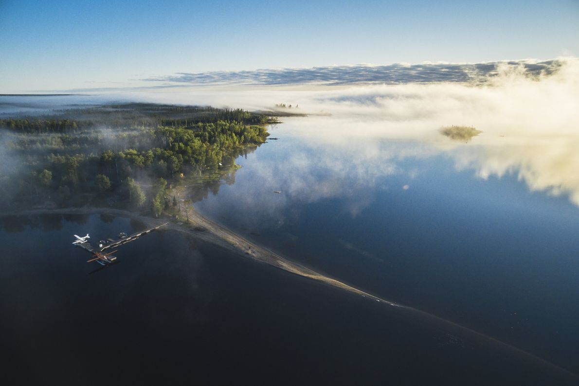 Aerial view of Wabakimi Provincial Park.