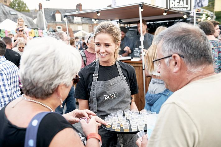 The Abergavenny Food Festival is a town-wide buffet complete withcookery demonstrations,live music and fireworks.