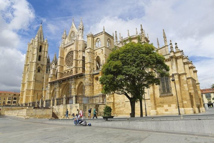 Cathedral of Leon, an important stop on the Way of St James