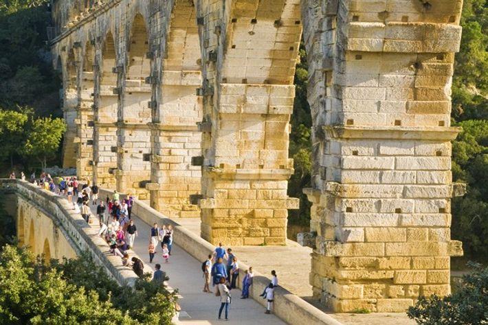 Roman ruins of Pont du Gard. Image: Getty