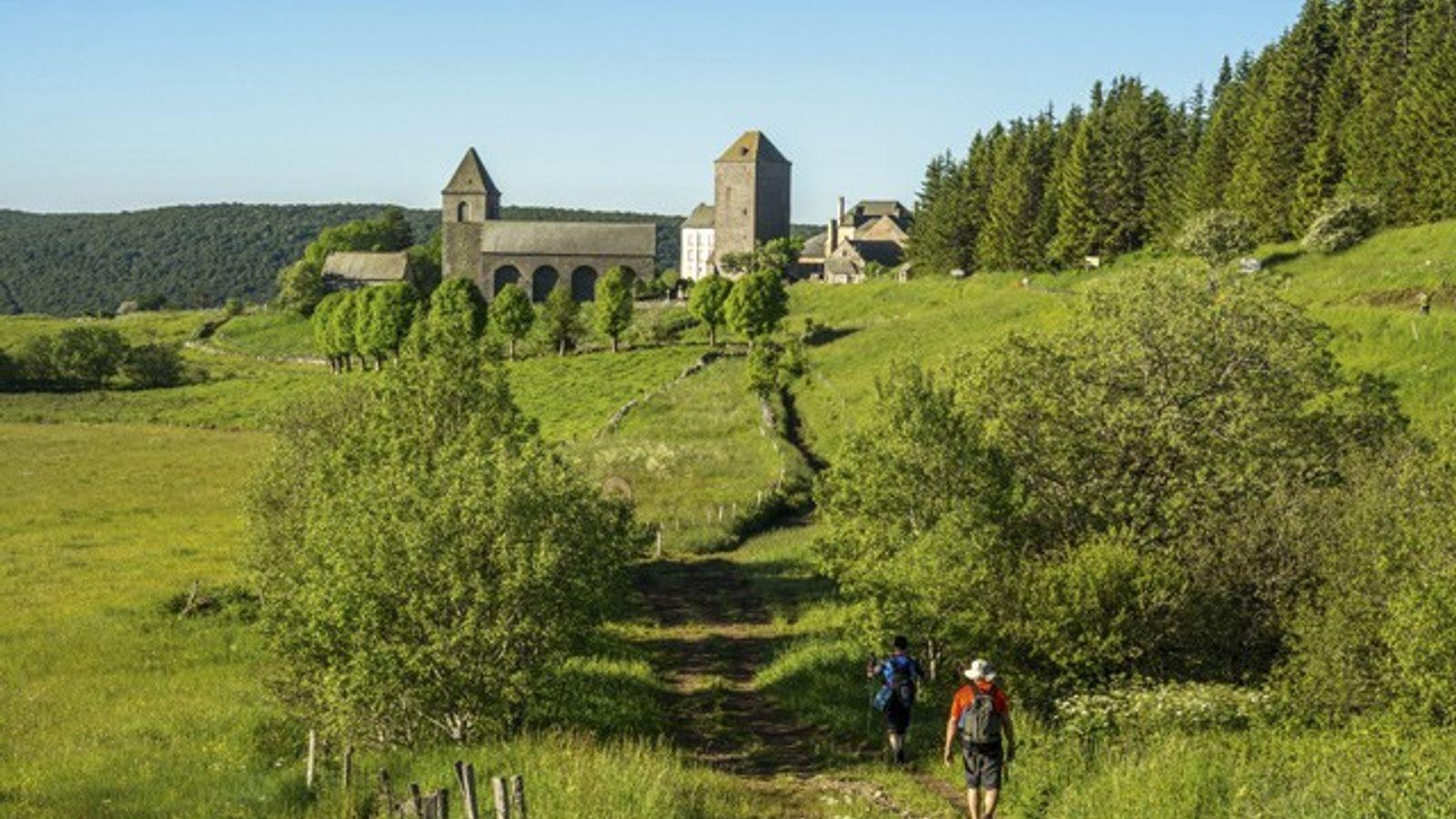 Aubrac village on the Via Podiensis, St James's Way