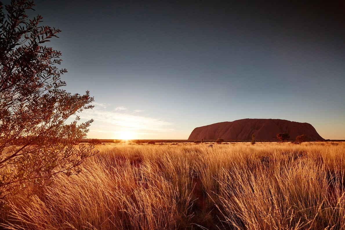 Uluru famously seems to change colour at dawn and dusk.