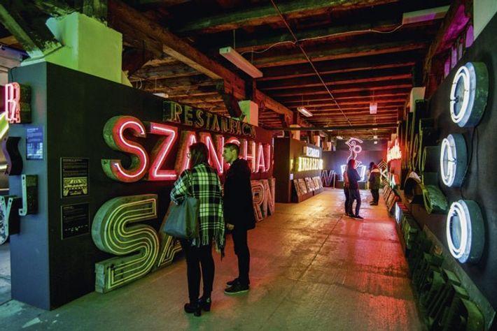 Neon lighting in the Neon Muzeum.