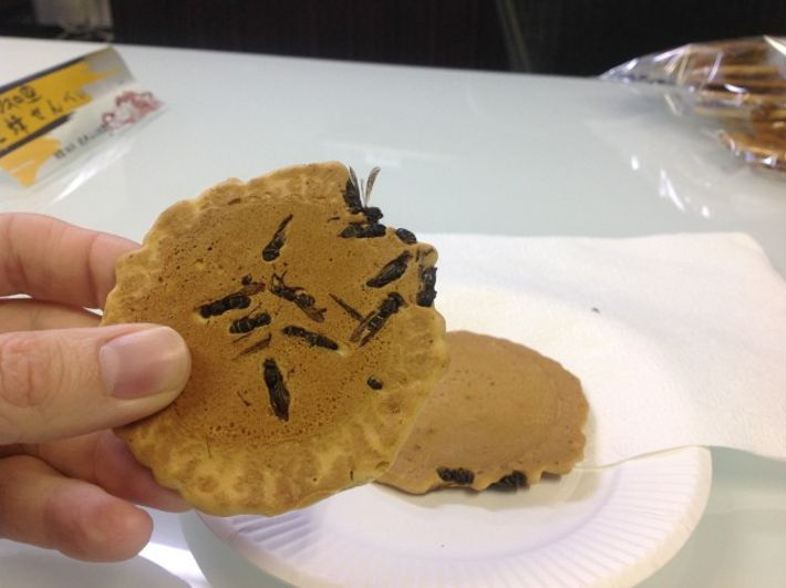 Perhaps the ultimate test of squeamishness versus objectivity, the inclusion of wasps in this cookie is unique ...