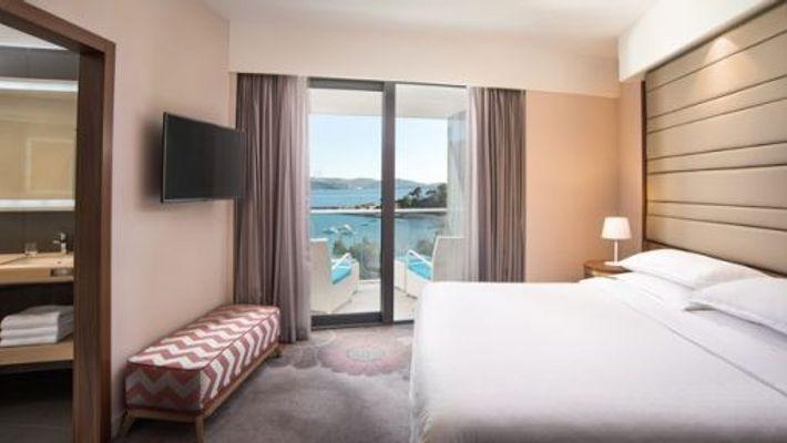 Executive suite bedroom, Sheraton Dubrovnik Riviera Hotel