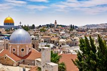 Panoramic view of the Old City neighbourhood in Jerusalem