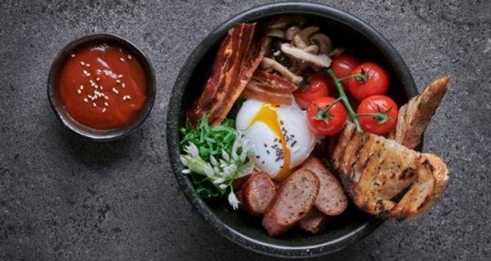 English bibim breakfast at Jinjuu
