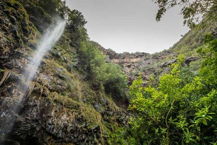 The heart-shaped waterfall