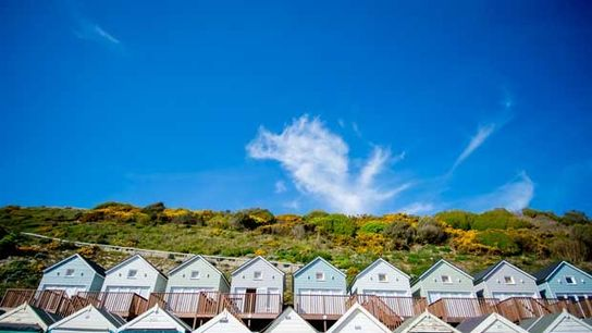 Sunny skies on the Dorset coast