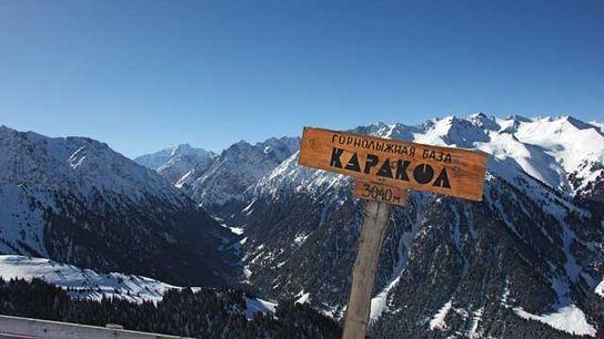 Karakol ski resort.