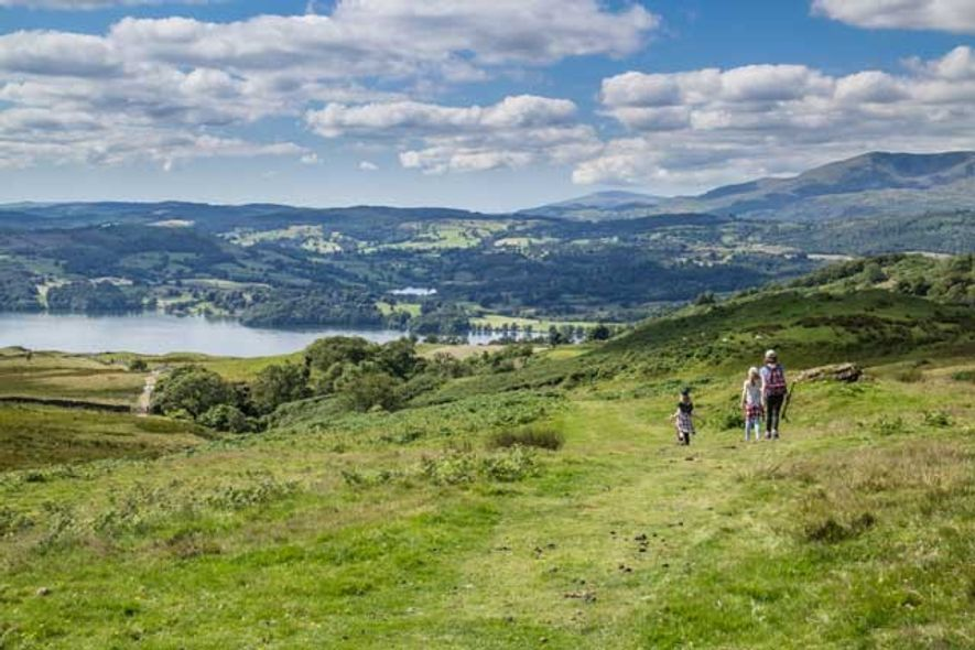 Family hike in the Lake District