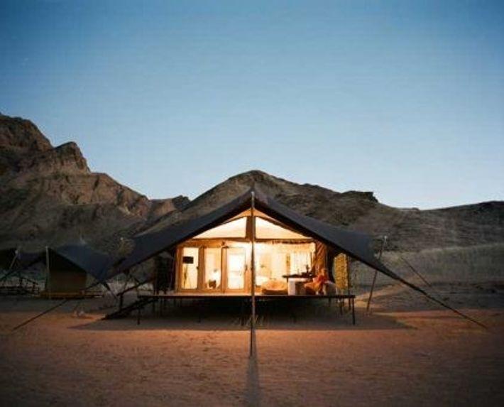 Dusk at Hoanib Valley Camp, Namibia
