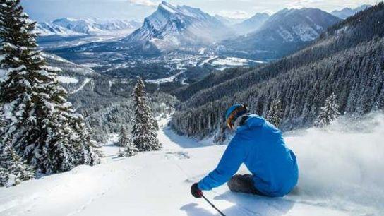 Skiing in Banff