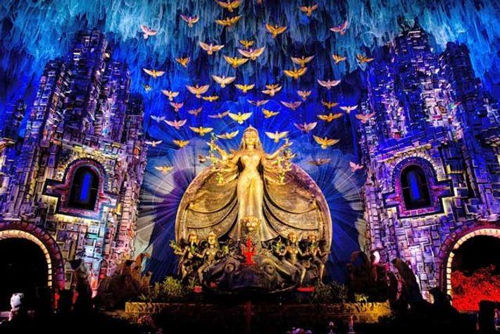 The autumn festival of Durga Pujo