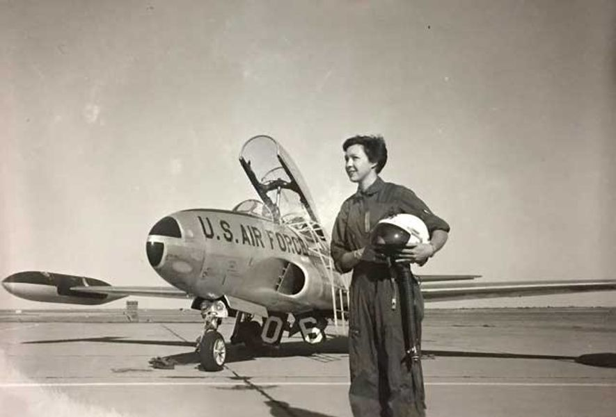 Wally Funk aged 22 at Fort Sill military base
