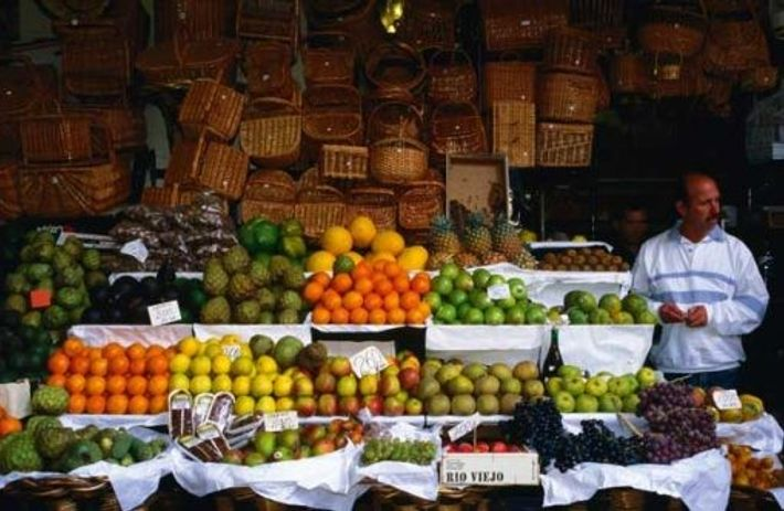 Fruit and vegetables at the Mercado dos Lavradores. Image: Getty