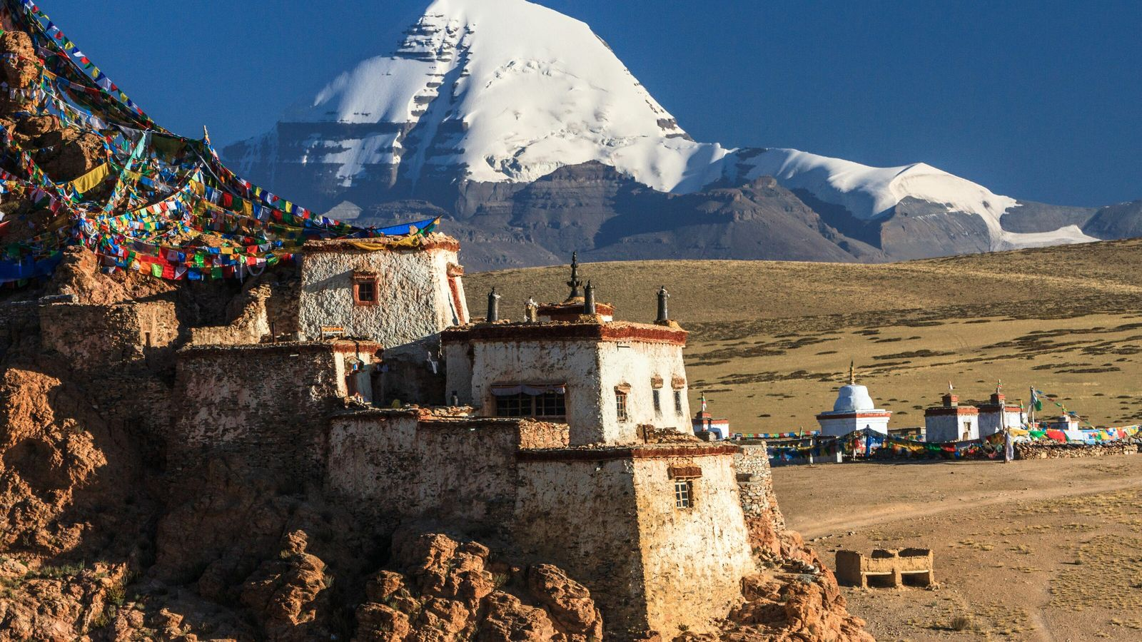 Good fortune is said to await those who make the 21,778ft climb atop Mount Kailash in the ...
