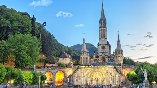 A bastion of the Christian faith, Lourdes, in southwest France, has been a popular pilgrimage site ...