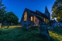 St Nicholas Church in Pluckley at night