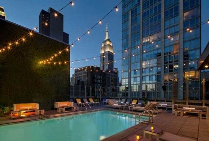Rooftop pool at Royalton Park Avenue