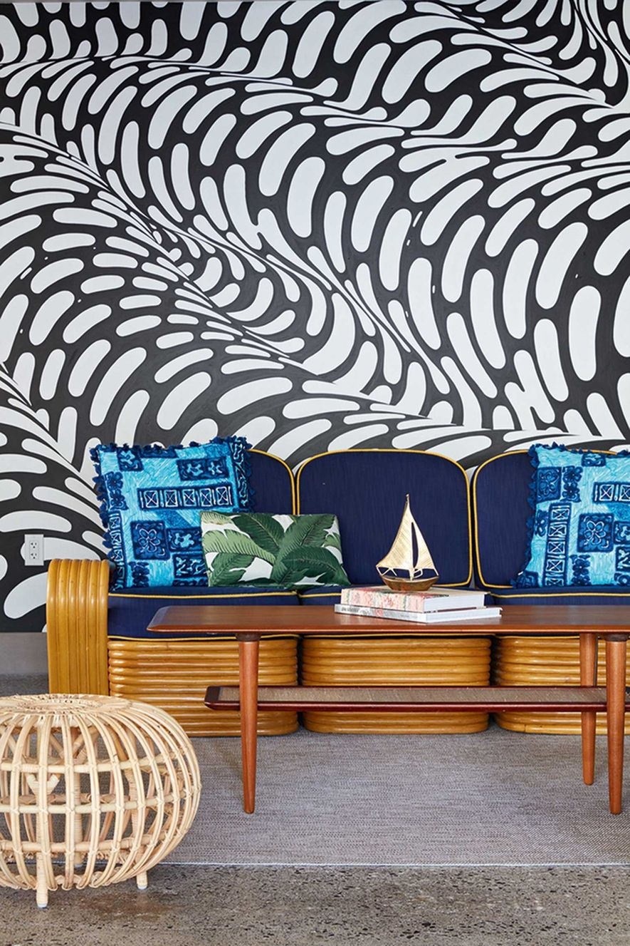 Surfjack Hotel combines a retro outlook with breezy interiors, and exhibits local artists' work.
