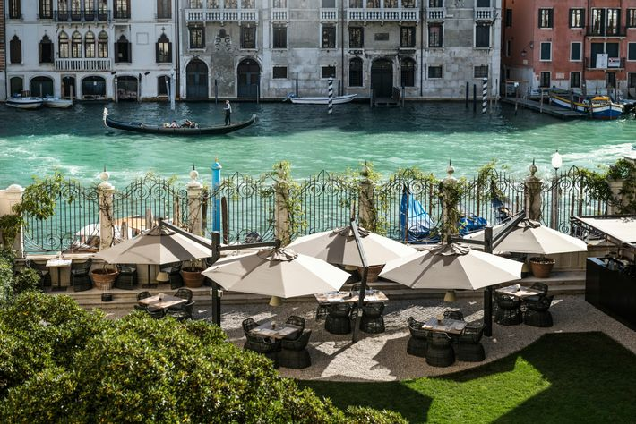 AtArva, the intimate restaurant at Aman Venice,choose between the grandeur of the dining roomor, in the ...
