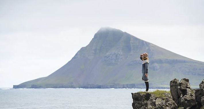 Looking out to sea, with the Reykjaneshyrna headland in the background