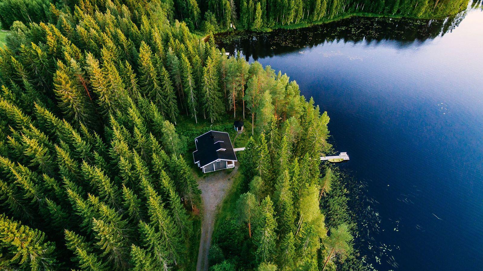 Wooden cottage andsauna, Finnish archipelago