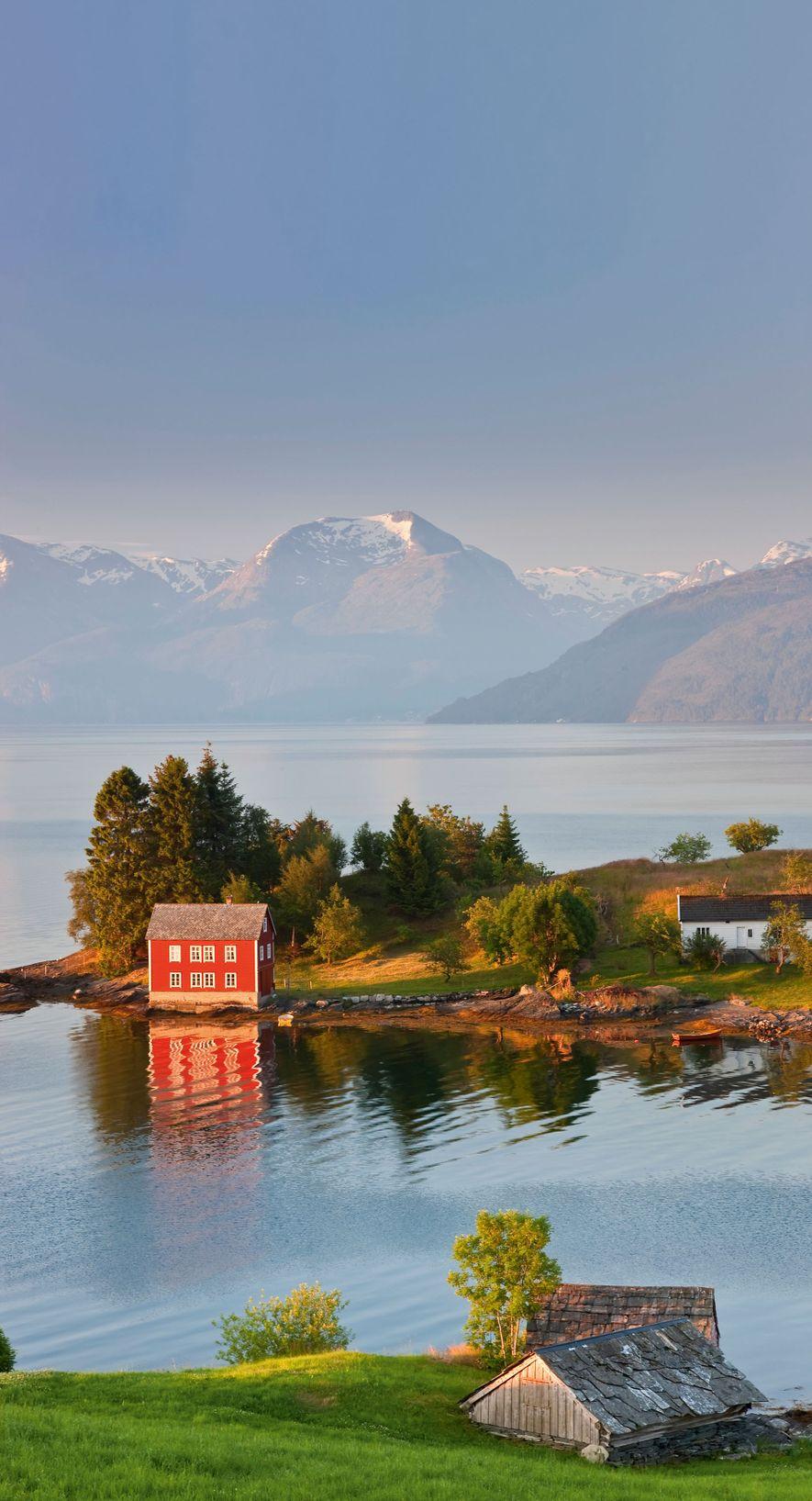 Small island in Hardangerfjord, near Bergen.
