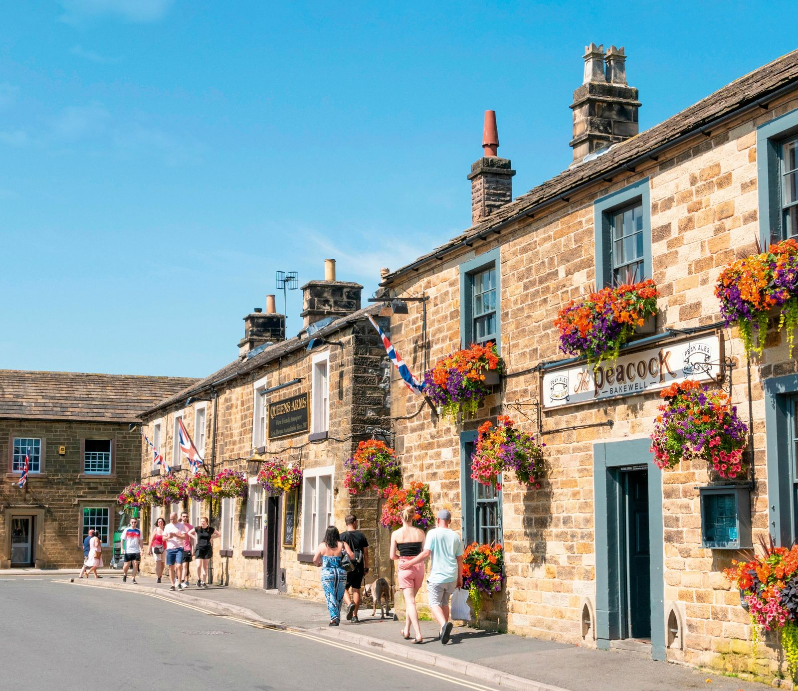 The Peacock Inn in Bakewell town centre. Perhaps best-known for its eponymous pudding, Bakewell makes the ideal jumping-off ...
