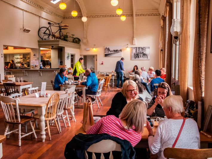 Located just north of Bakewell, the Hassop Station Cafe sits on the Monsal Trail and offers ...
