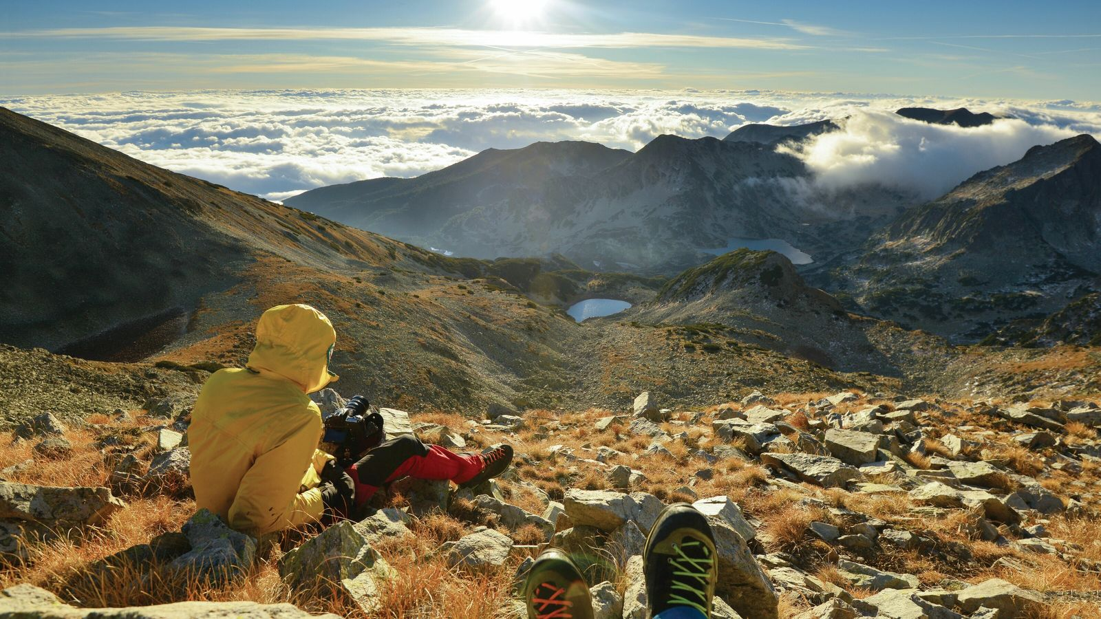 Autumn hiking in Pirin National Park, just a short drive from the town of Bansko.