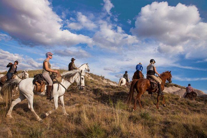 Horse-riding in Cappadocia.