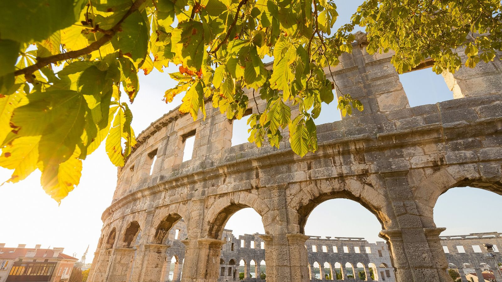 Pula Arena, a Roman amphitheatre that still hosts events today.