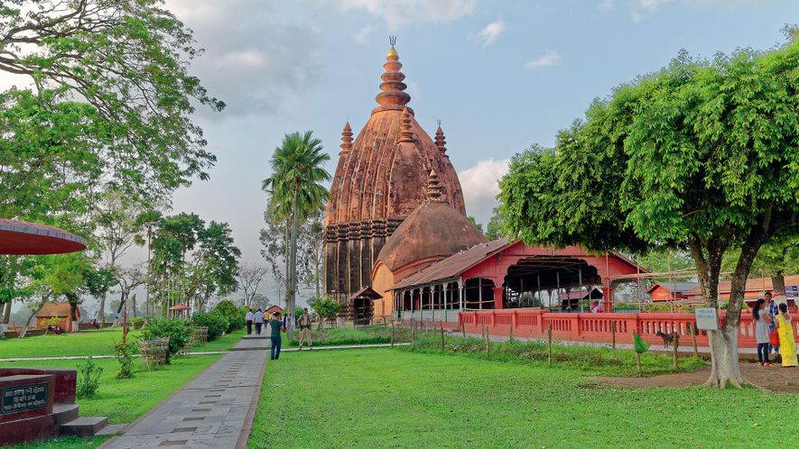 Sivasagar's Shiva Dol temple, on the bank of Borpukhuri tank, is believed to be the tallest ...
