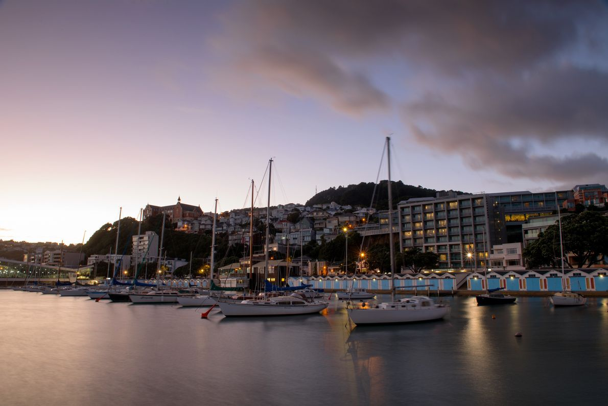 The waterfront in Wellington attracts locals and visitors alike for activities by land and sea, including ...