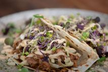Barbecue chipotle breakfast taco at Kind, located in the Morningside Precinct of Auckland.