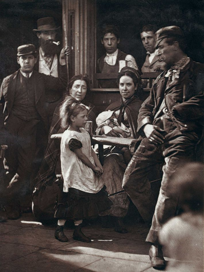 Taken a decade before the Ripper murders, this image reveals the faces of the lower classes ...