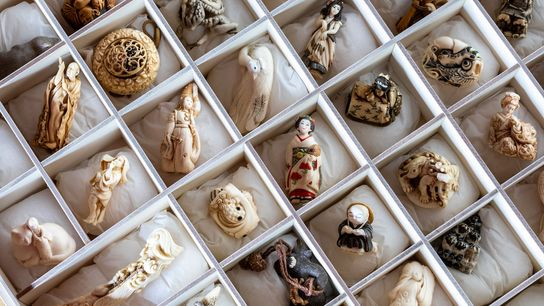 Don't bring home netsuke—traditional kimono ornaments often carved from ivory—from a trip to Japan.