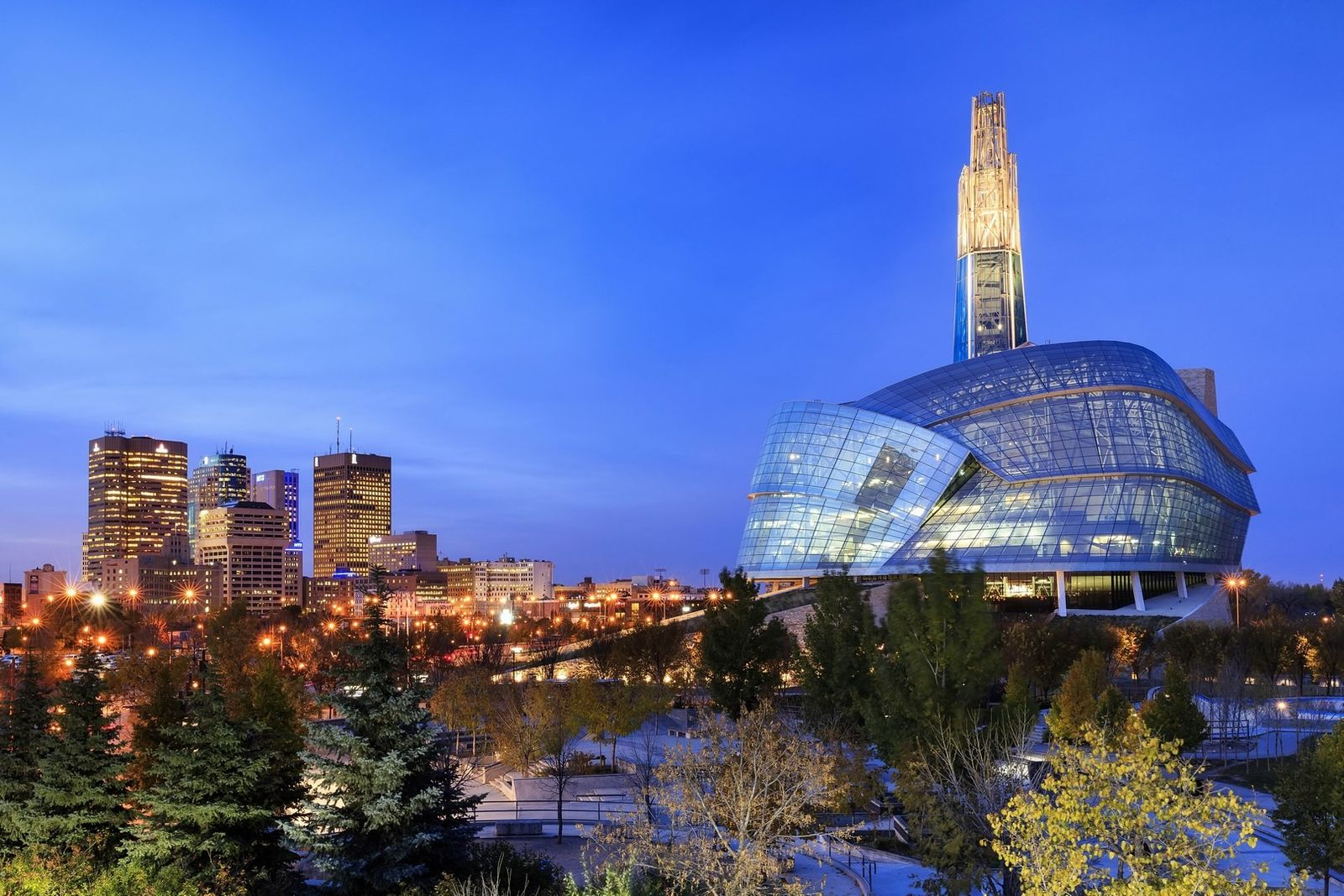 The interactive Canadian Museum for Human Rights takes visitors on a journey from darkness to light ...