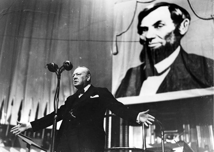 Winston Churchill at 'To You, America, A Thanksgiving Day Celebration in aid of King George's Fund ...