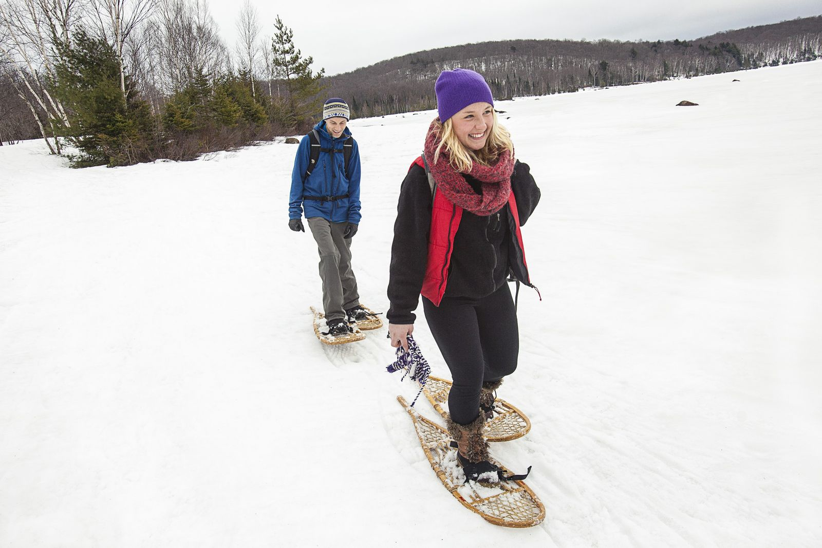 Strap on snowshoes to explore beautiful and remote places, on a day trip to Muskoka (pictured ...